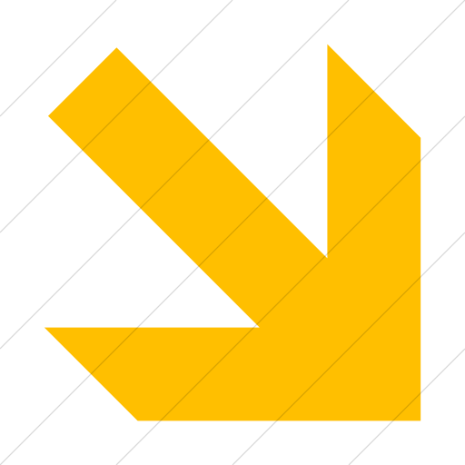Simple Yellow Aiga Right And Down Arrow Icon