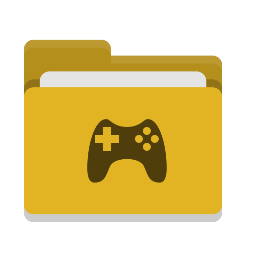 Folder, Yellow, Games Icon Free Of Papirus Places