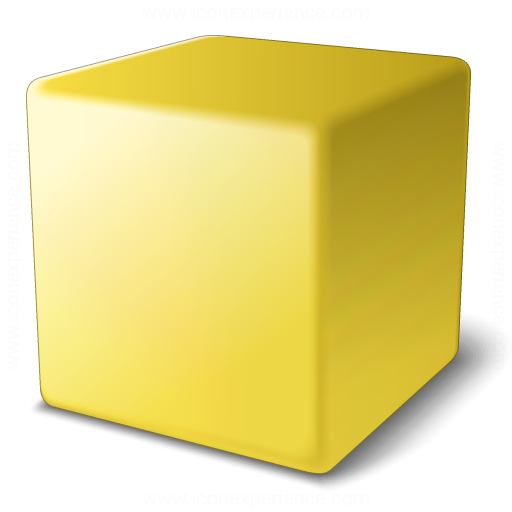 Iconexperience V Collection Cube Yellow Icon