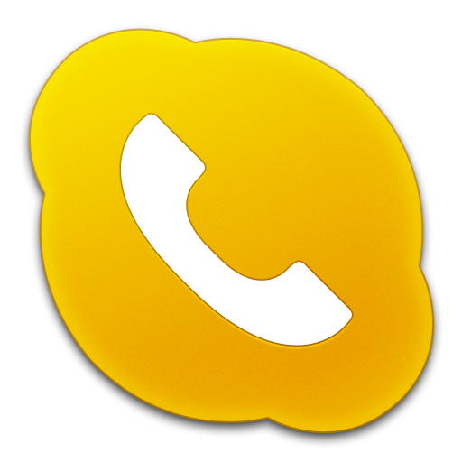 Skype Phone Yellow Icon
