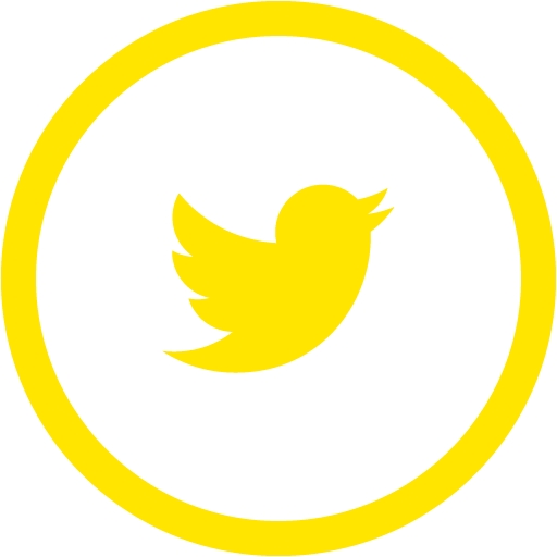 Yellow Twitter Icon Free Icons