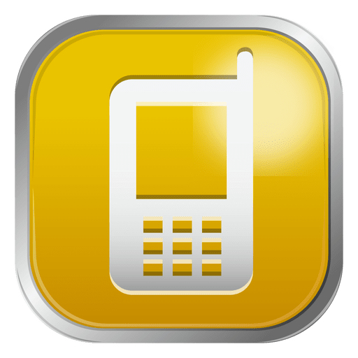 Yellow Mobile Icon