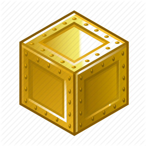 Box, Cube, Extra, Gold, Metal, Pack, Yellow Icon