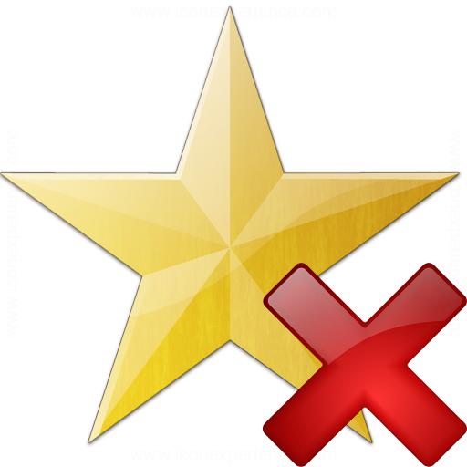Iconexperience V Collection Star Yellow Delete Icon