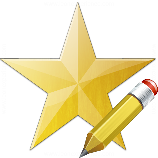 Iconexperience V Collection Star Yellow Edit Icon