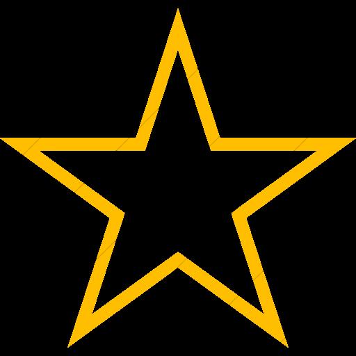 Simple Yellow Raphael Star Icon
