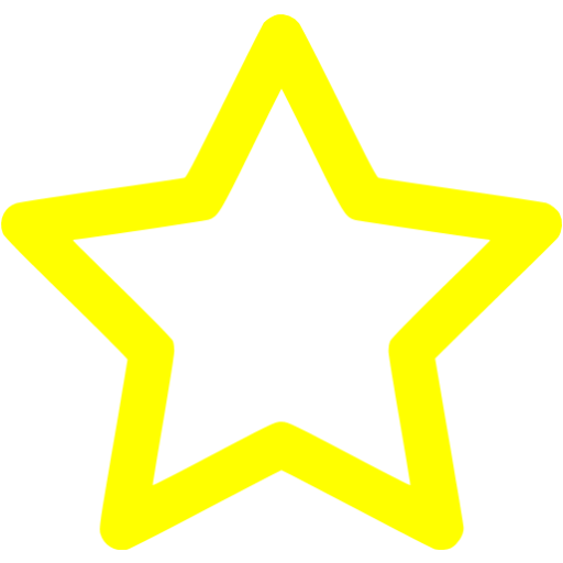 Yellow Outline Star Icon