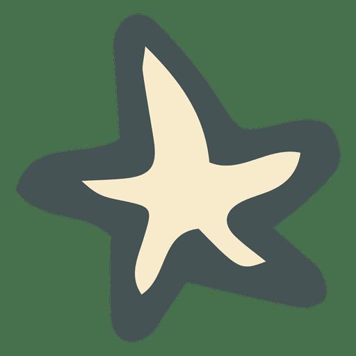 Yellow Star Hand Drawn Icon