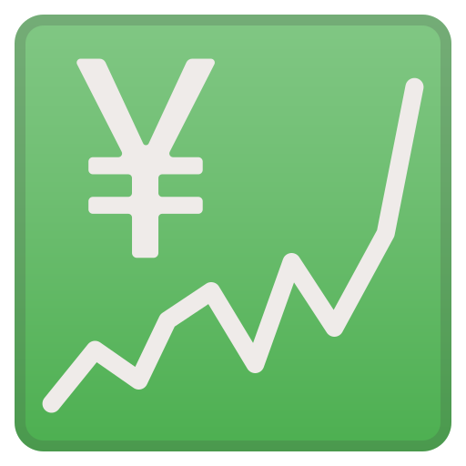Chart, Increasing, With, Yen Icon Free Of Noto Emoji Objects