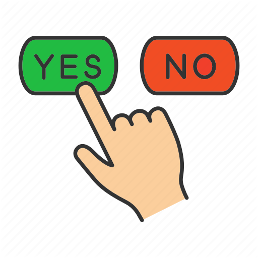 Accept, Agree, Decline, Disagree, Finger, No, Yes Icon