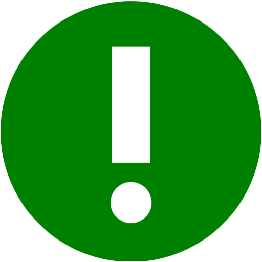 Green Warning Icon