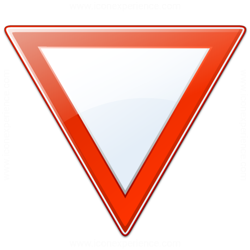 Iconexperience V Collection Sign Yield Icon