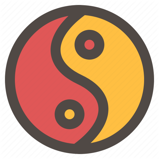 Chinese New Year, Philosophy, Religion, Yin Yang Icon