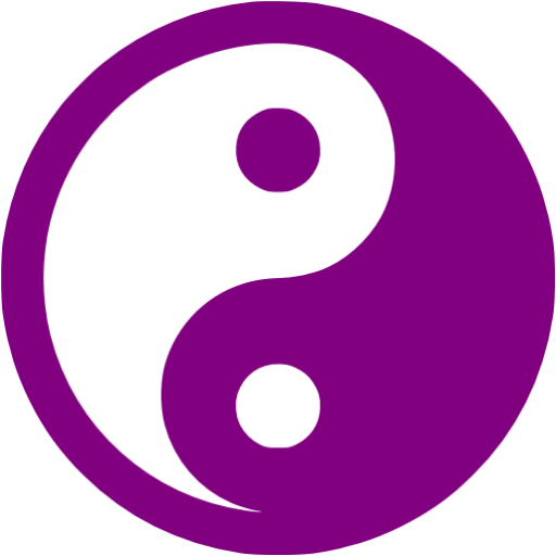Purple Yin Yang Icon