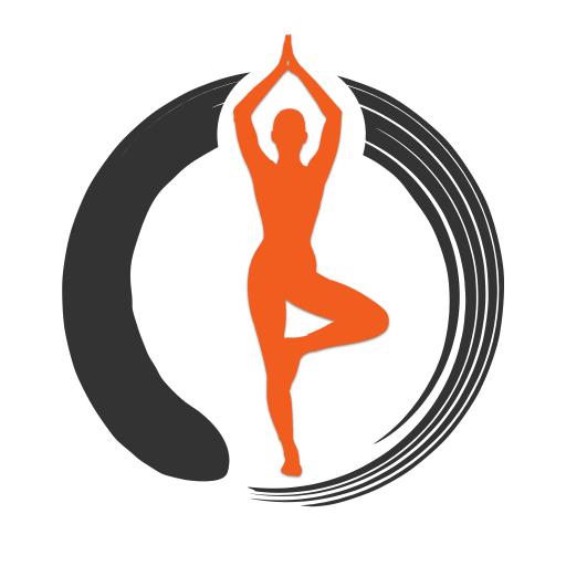 Zen Om Yoga Icon With Background Zen Om Yoga Studio