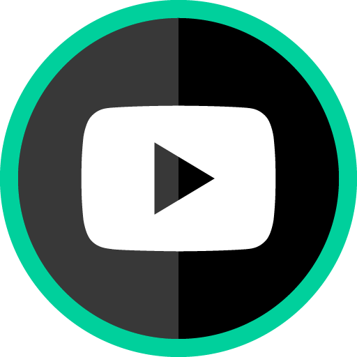Free Youtube Play Button Green Round Social Media Icon
