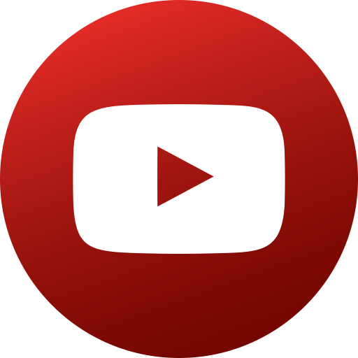 Circle, Colored, Gradient, Media, Social, Social Media, Youtube Icon