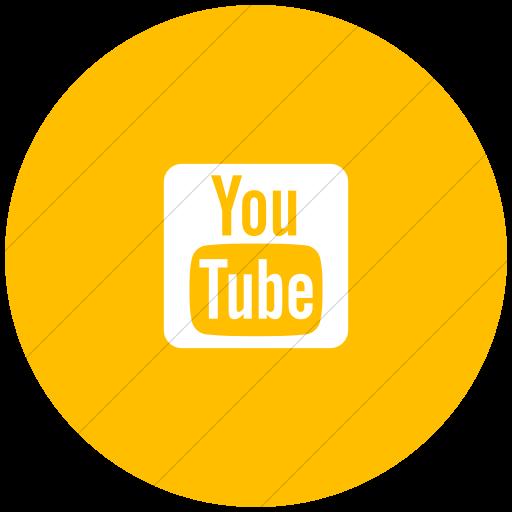 Flat Circle White On Yellow Foundation Social Youtube