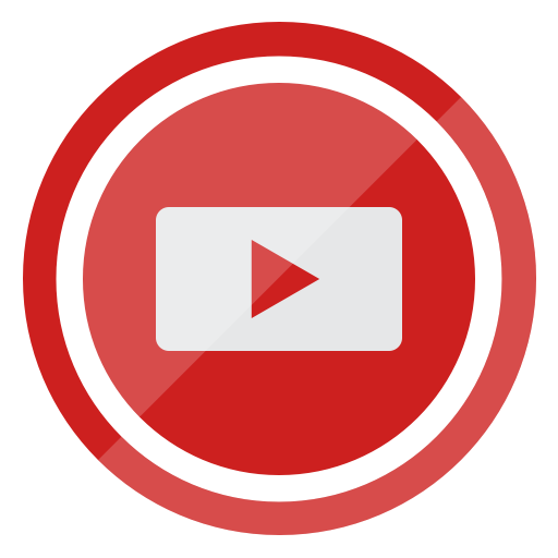 Social Media Youtube Indianred Icon