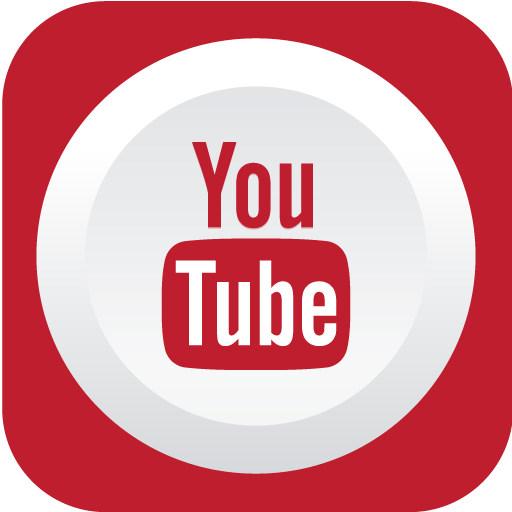 Youtube Icon Rounded Flat Social Iconset Graphicloads