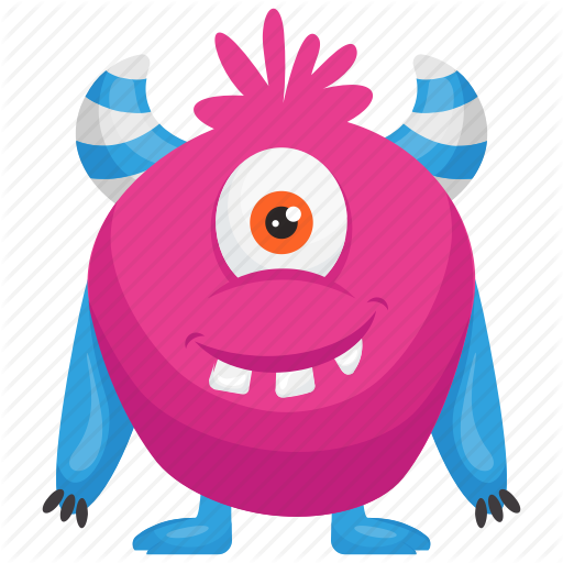 Haunted Monster, Pink Monster, Zazzle Cartoon Monster, Zazzle