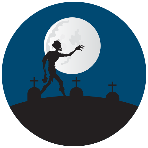 Grave Yard, Graves, Halloween, Zombie Icon