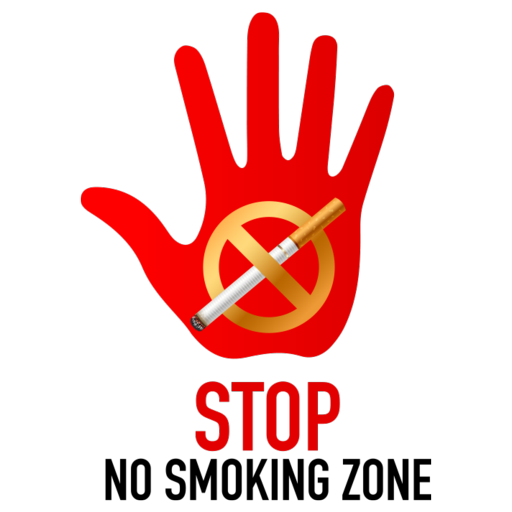 Stop No Smoking Zone Symbol Icon