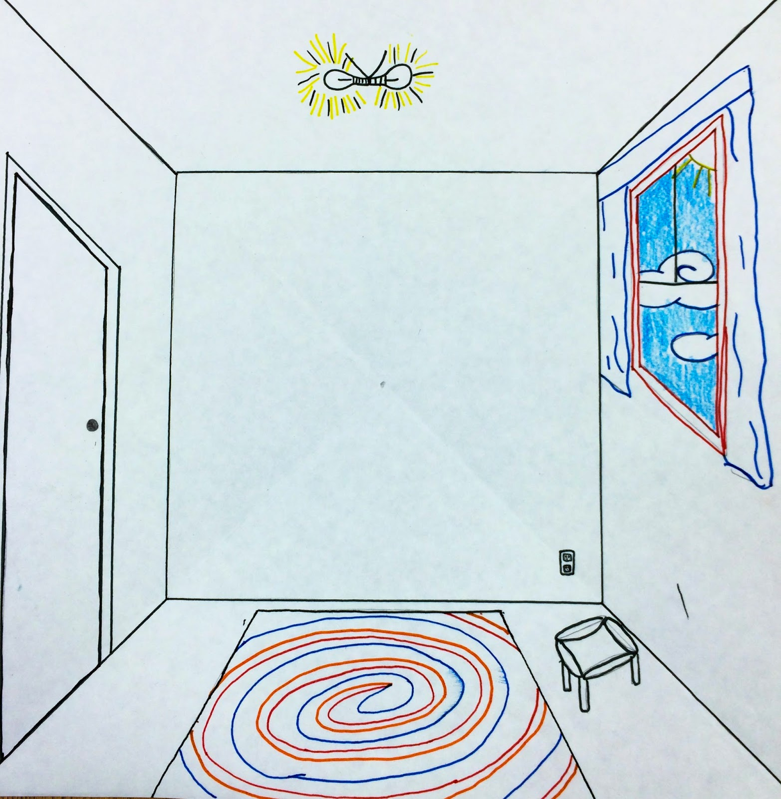 1565x1600 The Helpful Art Teacher Draw A Surrealistic Room In One Point