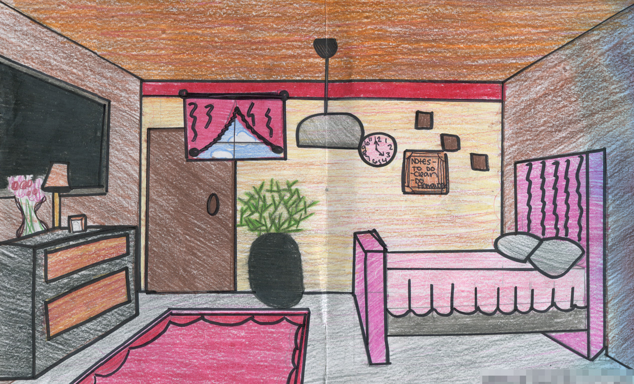 1267x768 1 Point Perspective Room Interior Lee Visual Art