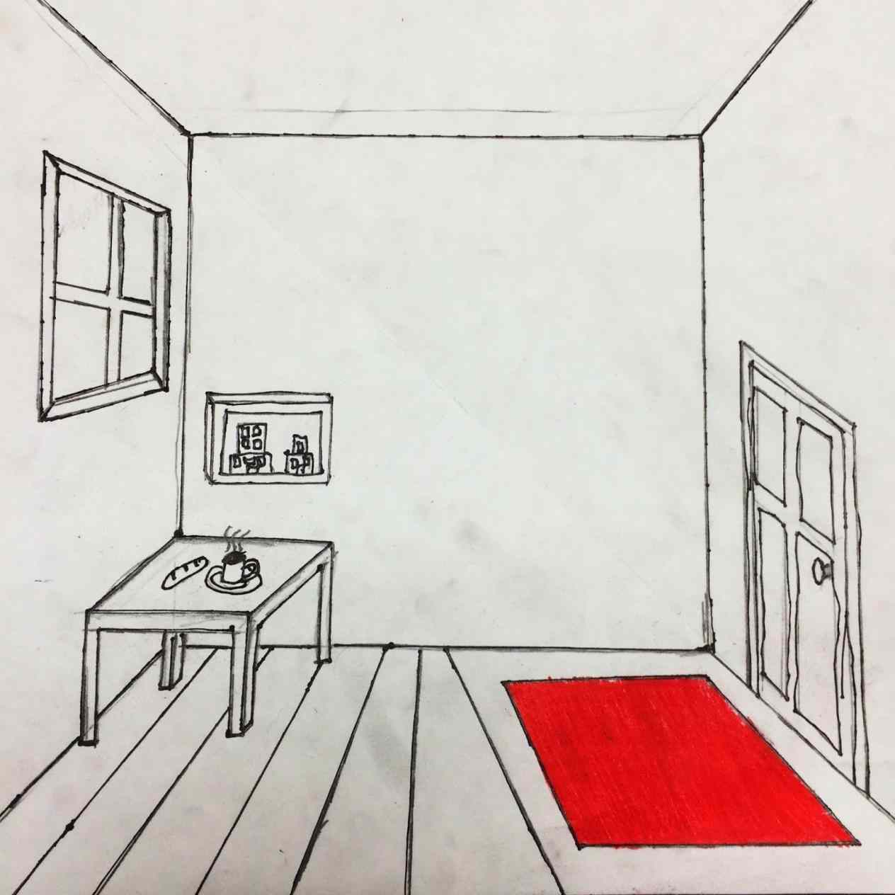 1264x1264 How To Draw A Room In 1 Point Perspective 2018