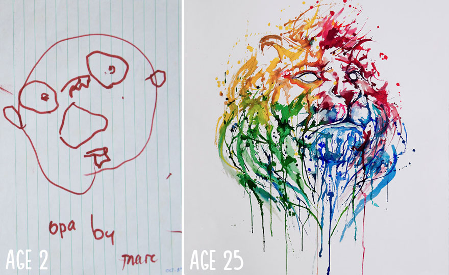 880x540 Before And After Drawings Show Practice Makes Perfect Bored