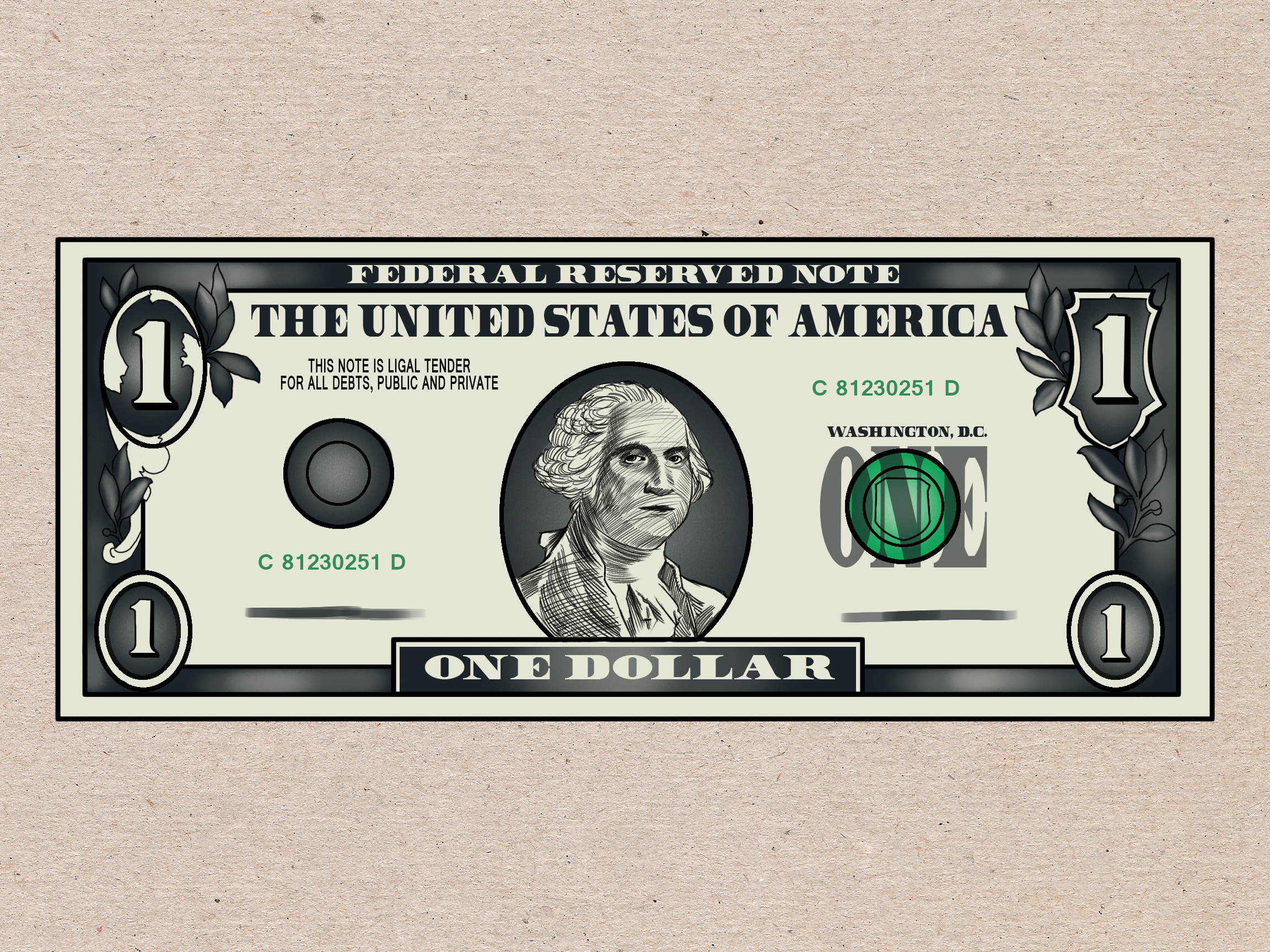 2304x1728 How To Draw A Dollar Bill 7 Steps (With Pictures)