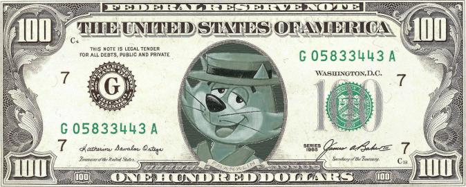 674x270 Top Cat 100 Dollar Bill By Policezombie