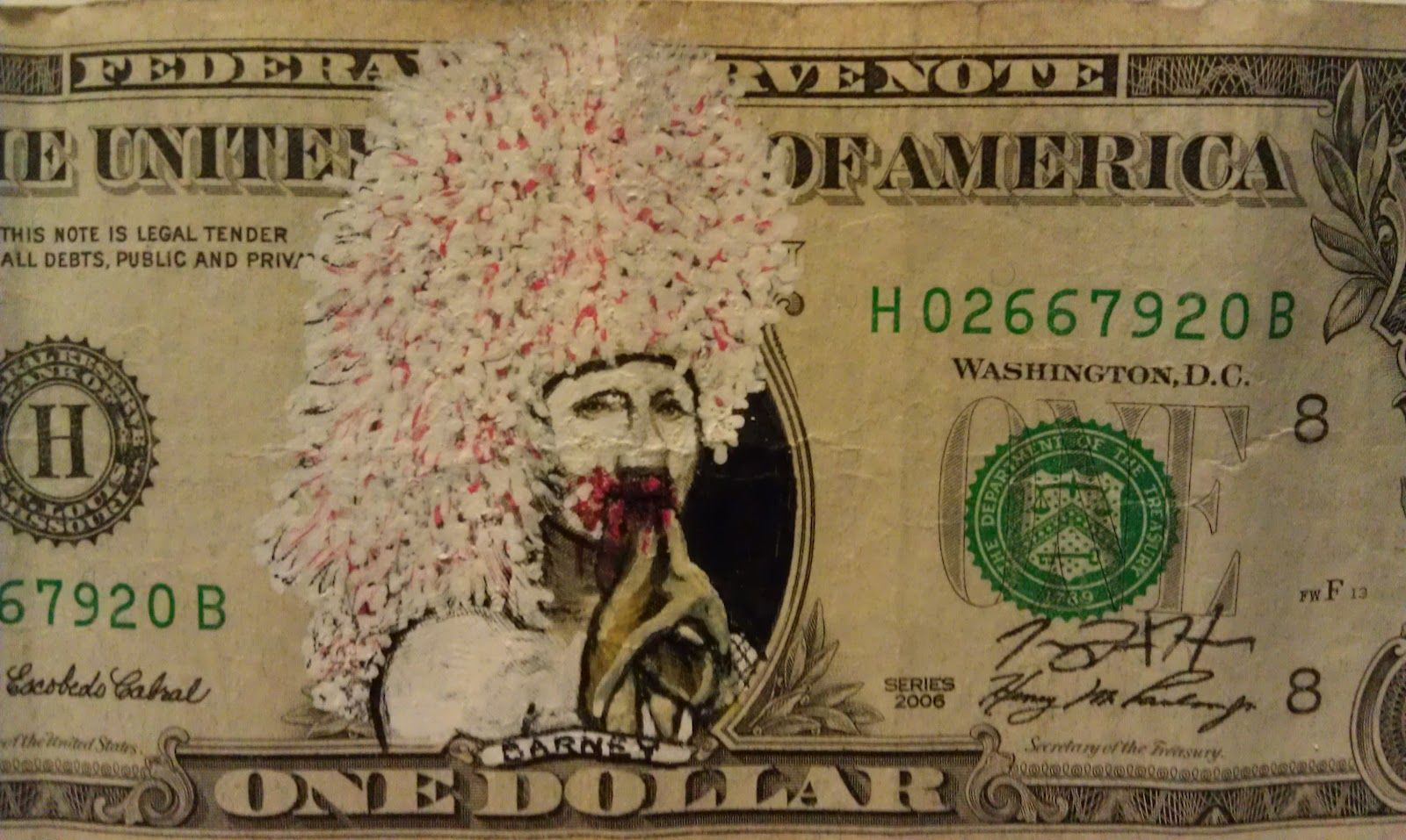 1600x957 The Art Of Jeremy Hara Drawing On Dollars Currency Art Amp Some