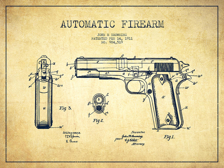 900x675 Firearm Patent Drawing From 1911