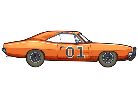 450x300 1969 Dodge Charger By 451illustration