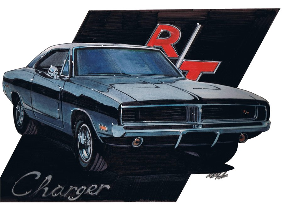 900x649 69 Dodge Charger Rt By Sketch52000