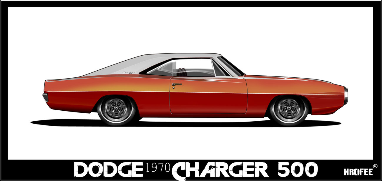 1298x615 1970 Dodge Charger Toon By Wrofee