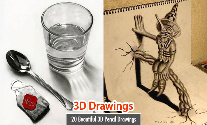 660x400 Beautiful 3d Pencil Drawings And 3d Art Works