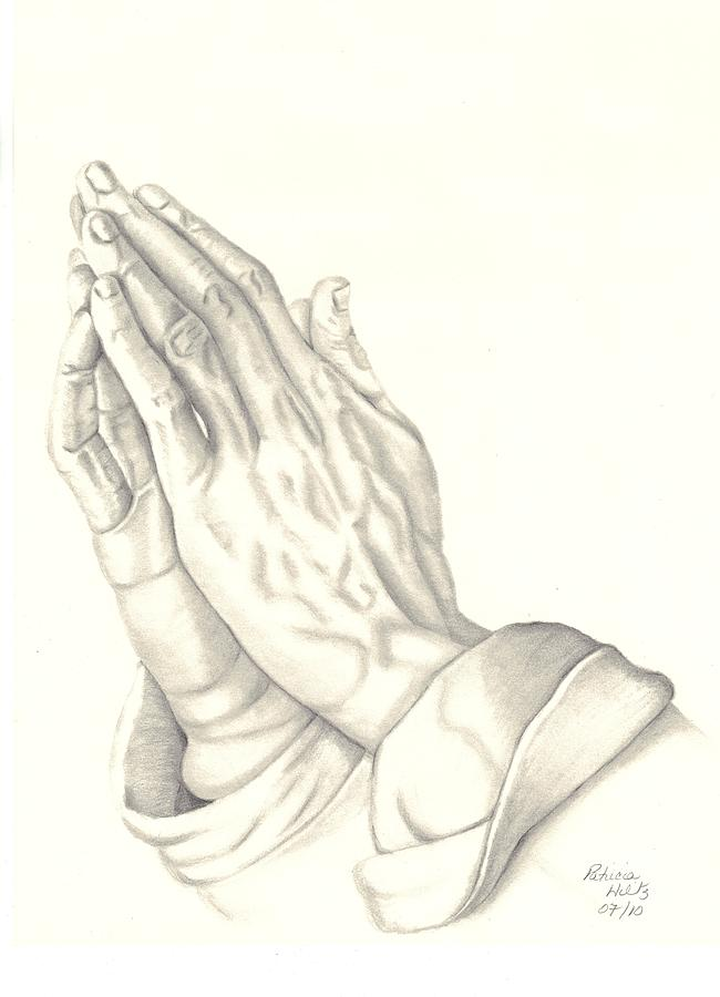 650x900 Praying Hands Drawing By Patricia Hiltz