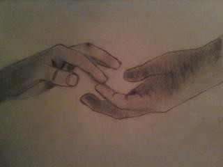 320x240 Hands Drawing 2 Hands Reaching Out. Just A Little