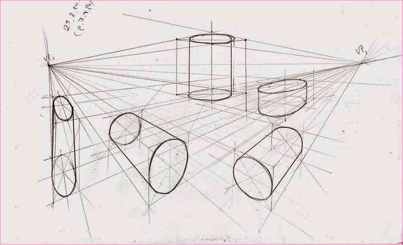 802x487 2 point perspective drawing cylinder
