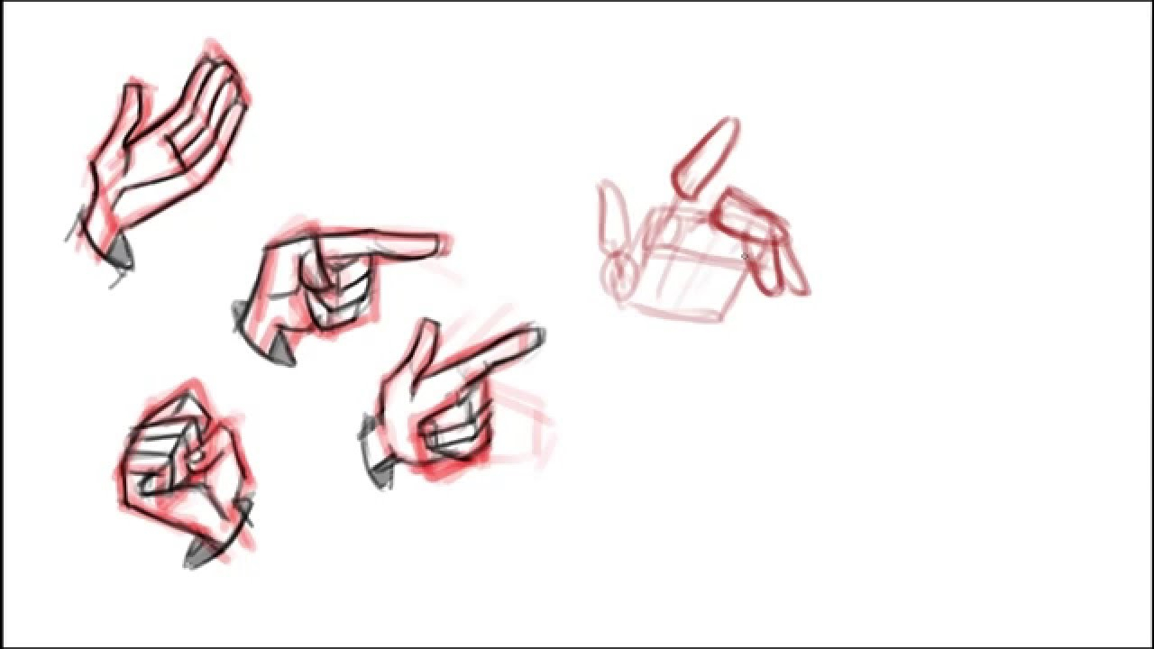 1280x720 Animation Drawings Step By Step How To Draw Hands Quick And Easy