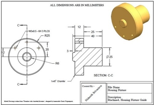 500x342 2d Drawings Of Parts And Assembly