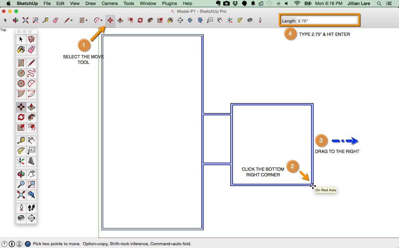 1280x796 Draw A Floor Plan In Sketchup From Field Measurements