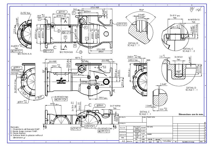 750x516 Mechanical 2d Drafting Services Mechanical 2d Drawing