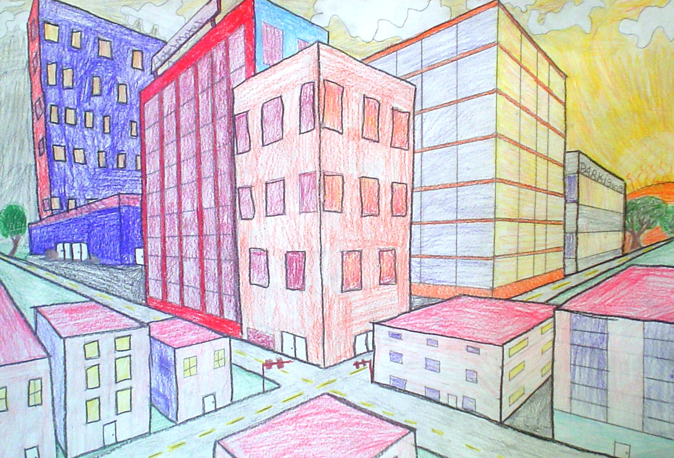 1361x924 Two Point Perspective Drawings Lessons From The K 12 Art Room