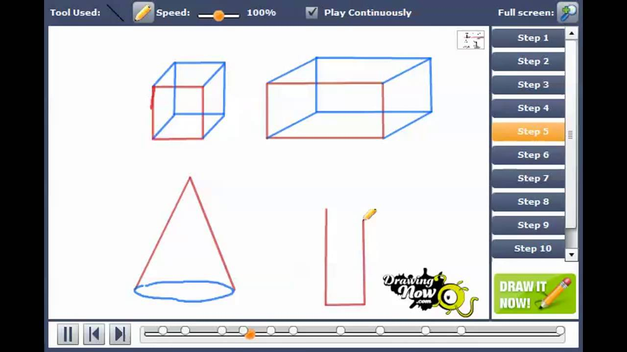 3 Dimensional Shapes Drawing At Getdrawings Com Free For
