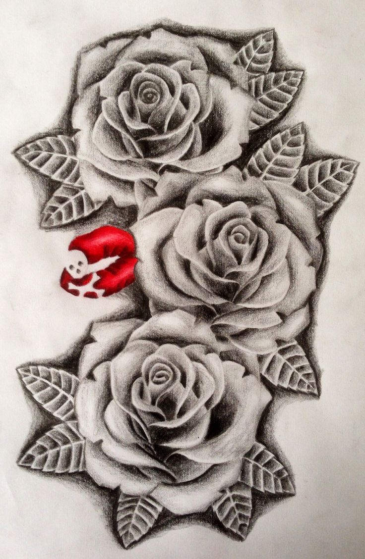 3 roses drawing at free for personal use for 3 roses tattoo