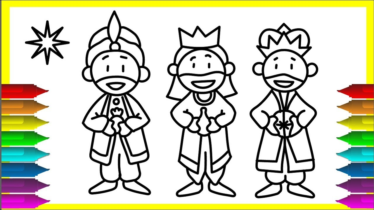 1280x720 Drawing The 3 Wise Men